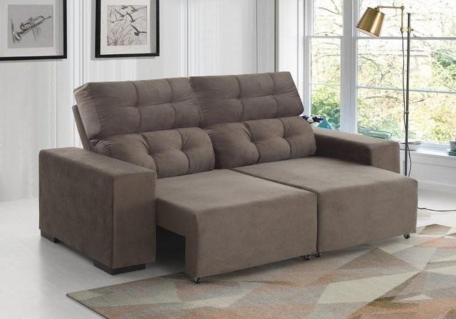 Sofa 2 metros de larg 2 lugares Suede Marrom 1,199,00 NOVO. Na embalagem