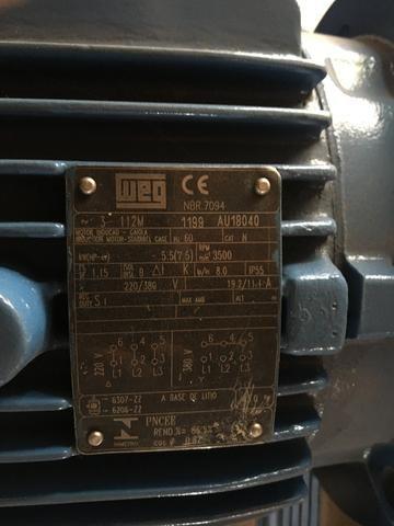 Motor elétrico trifásico 7,5 cv alta rotação - Foto 2