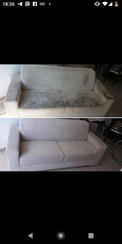 Higienização de Sofás (SERVIÇO PROFISSIONAL PREÇO  JUSTO) - Foto 4