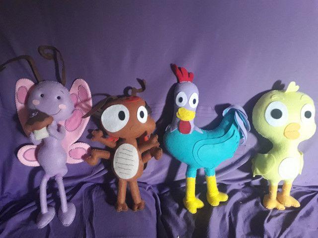 8 Bonecos de feltro turma da galinha pitadinha  - Foto 5
