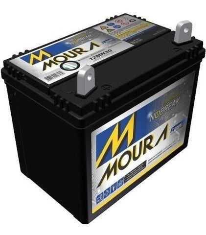 Bateria Moura 30 Ah P/ Mini Trator Cortador De Grama