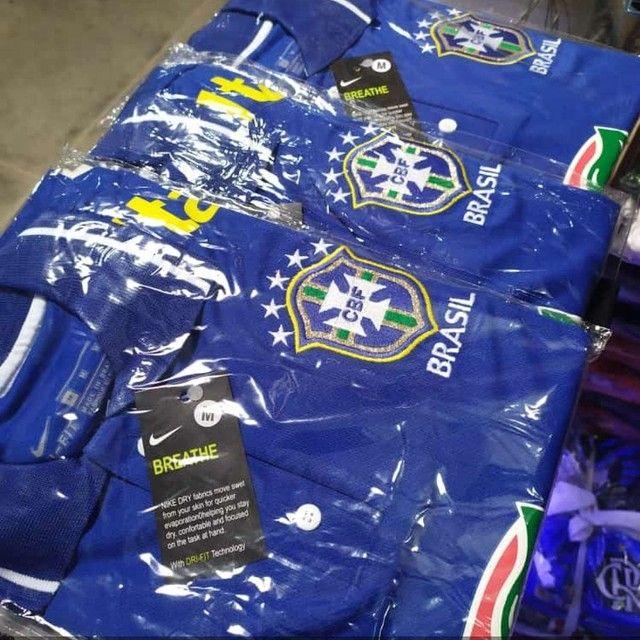 Camisa da seleção brasileira Premium (p ao GG) entrega gratuita para toda João pessoa - Foto 2