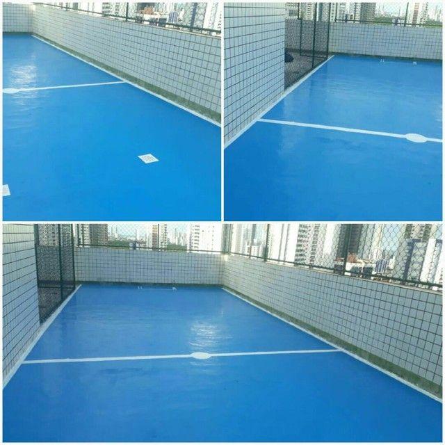 serviço pintura em epóxi  piso concreto - Foto 4
