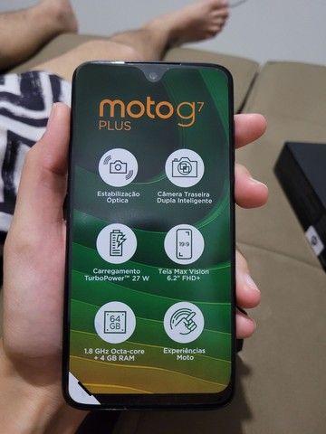 Motorola G7 plus, sem detalhe de uso. - Foto 2