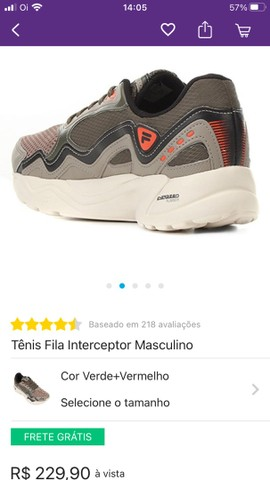 Tênis Fila Interceptor - Foto 2