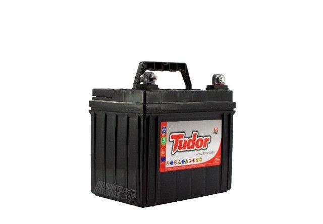 Bateria Tudor 30 Ah P/ Mini Trator Cortador De Grama  - Foto 2