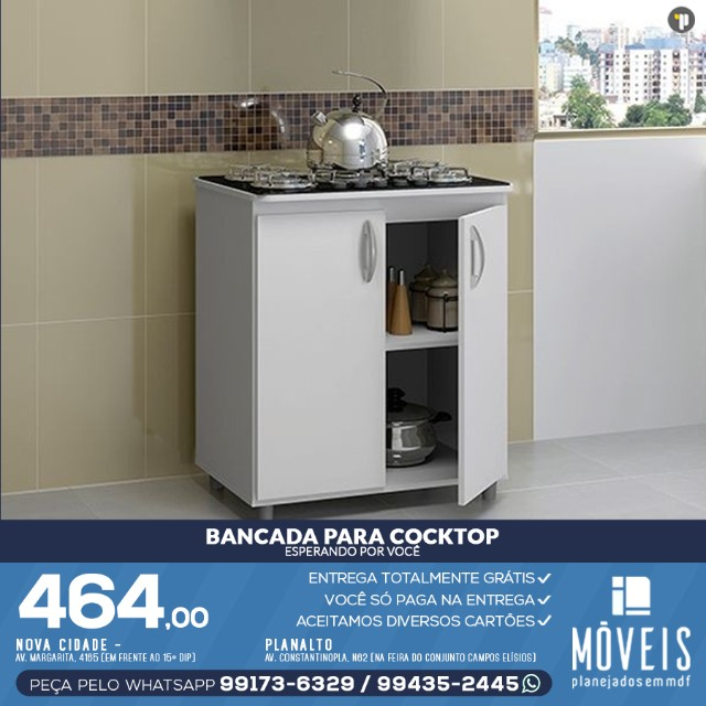 Armário para cooktop, forno e microondas 100% em MDF - Foto 4