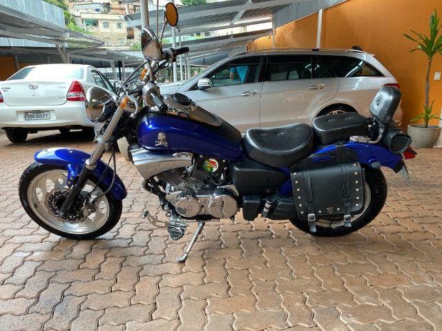 Moto Sundown V Blade Custom 2008 cheia de acessórios, apenas 3.000 Km!  - Foto 11