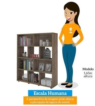 Estante de Livros Modelo Book (Artely) Cor Canela - Foto 5