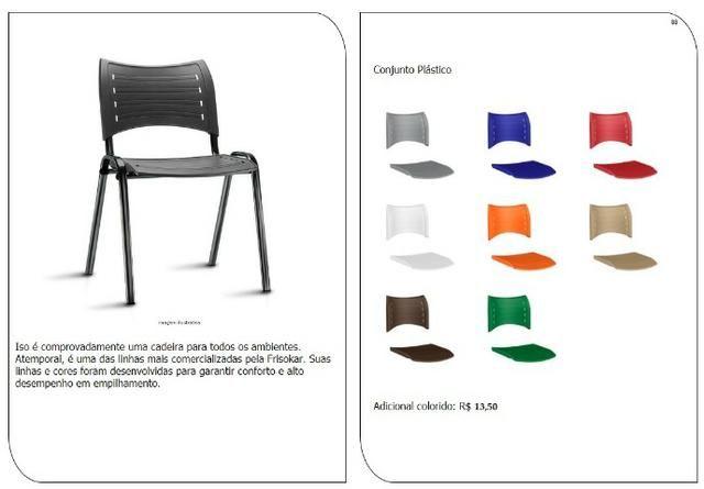 Cadeiras de escritório, linha office, praça alimentação, cadeira - Foto 4