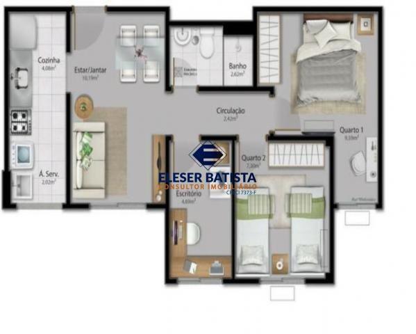 Apartamento à venda com 3 dormitórios em Condomínio vista limoeiro, Serra cod:AP00071 - Foto 18
