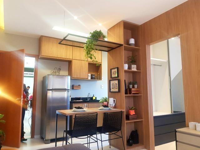Ap de 2 quartos com suite reversível e quintal, Mario Covas- Vista do Bosque - Foto 2