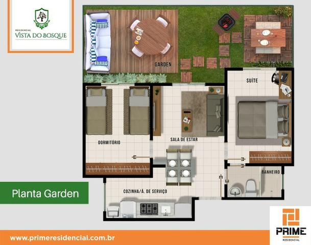 Ap de 2 quartos com suite reversível e quintal, Mario Covas- Vista do Bosque - Foto 8