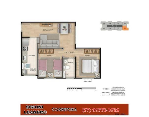SCL - 75 - Boa Esperança/ Apartamento 2quartos / 33m² a 42m²/ lazer completo/ elevador/