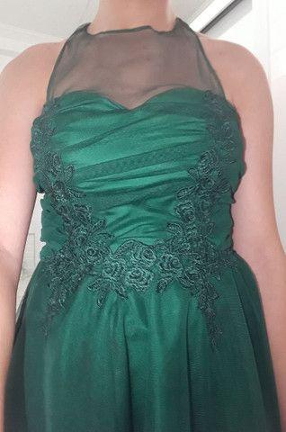 Vestido de festa verde  - Foto 4