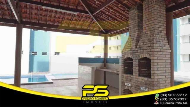 Apartamento novo, 02 quartos, piscina, churrasqueira, espaço gourmet, playground, 45,80m²  - Foto 6