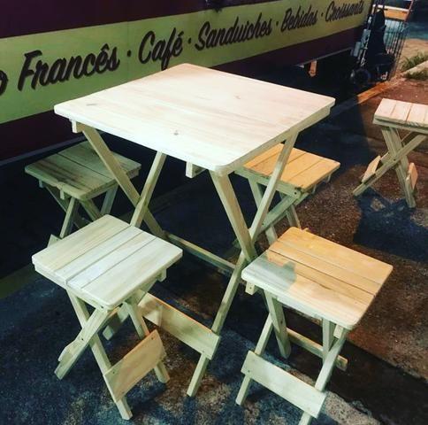 Mesas e cadeiras dobráveis para seu estabelecimento - Foto 6