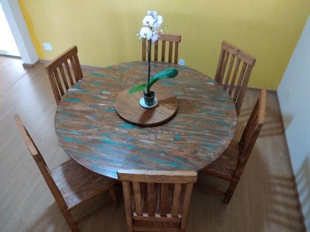 Kit com 6 Cadeiras de Madeira maciça 1,10cm - Foto 3