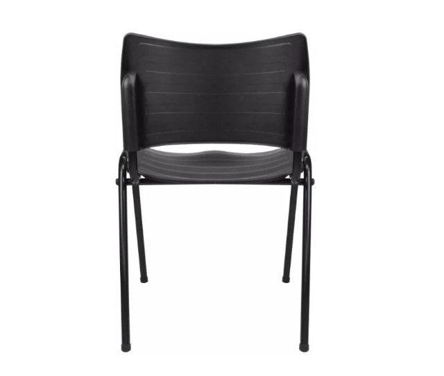 Cadeira Secretária em Polipropileno Preta - Foto 4