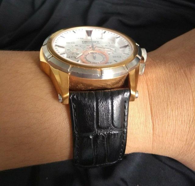 Relógio Orient Cronográfo Seminovo Com Pulseira De Couro - Foto 3