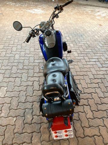 Moto Sundown V Blade Custom 2008 cheia de acessórios, apenas 3.000 Km!  - Foto 8