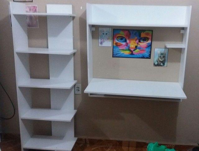 Kit estudo-Mesa e estante - Foto 2