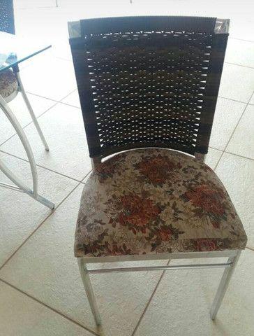 Mesa de vidro e vime com 4 cadeiras - Cornélio Procópio - Foto 3