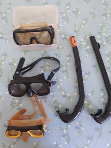 Roupa de Mergulho 6mm Park Way Design bota 5mm (M)- Nadareiras Rondine 34/37/41+snorkel  - Foto 3