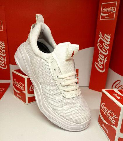 Tênis Coca-Cola mantra branco  - Foto 3