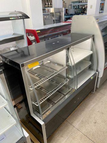 Balcão conjugado - estufa quente + refrigerado para tortas-para lanchonetes - Foto 5