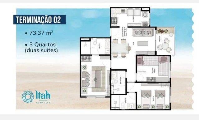Flat com 2 dormitórios à venda, 56 m², térreo por R$ 630.000 - Praia Muro Alto, piscinas n - Foto 12