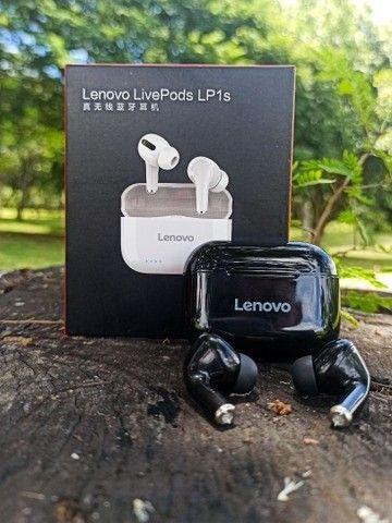 Fone bluetooth Lenovo LP1S tws (LivePods)-siri-redução de ruído-9.0 - Foto 2