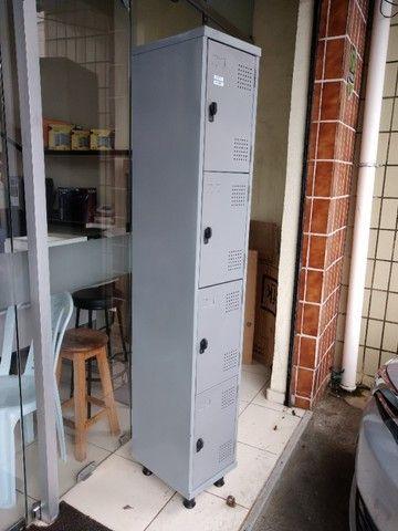 Armário Aço, Locker 04 Portas 1.98x0,32x0.40 (Usado)