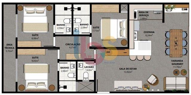 Apartamento à venda, 3 quartos, 3 suítes, 1 vaga, Barra Grande - Maraú /BA - Foto 6