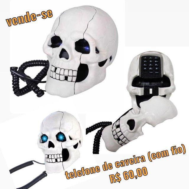 Telefone de caveira c/ fio - Foto 4