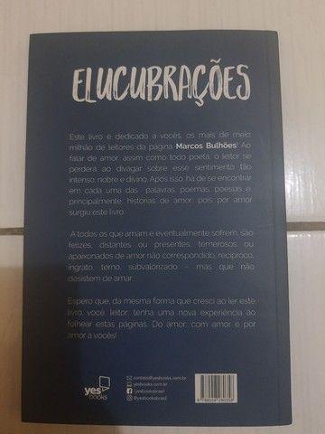 """Usado: Livro """"Elucubrações: Poesias"""", de Marcos Bulhões, Autografado - Foto 2"""