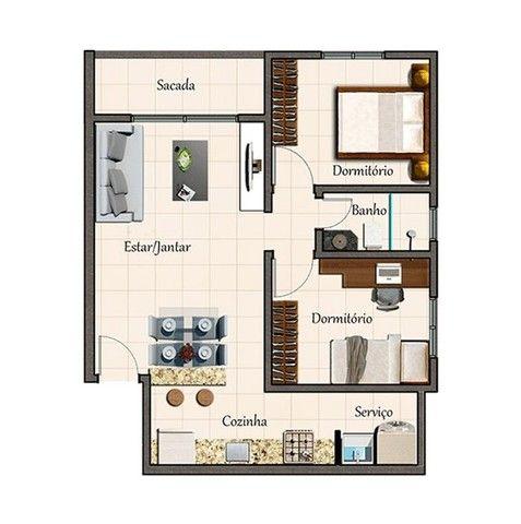 Apartamento em Palmital, Lagoa Santa/MG de 59m² 2 quartos à venda por R$ 152.500,00 - Foto 12