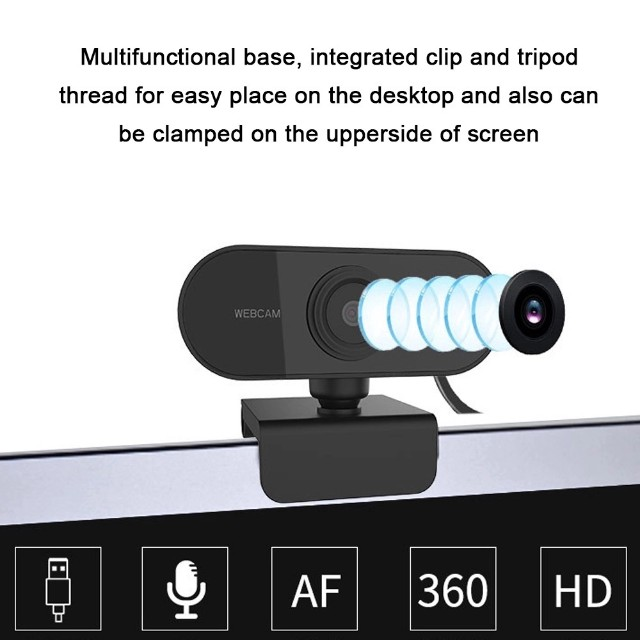 Full HD 1080 Webcam Microfone USB Mini Câmera De Visão 360º - Foto 4