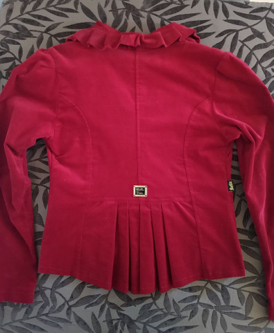 Blazer vermelho em veludo - Foto 3