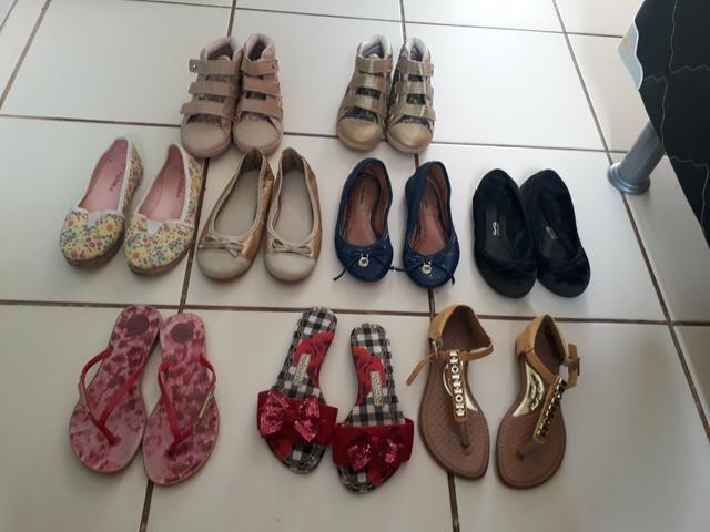 9 pares de sapatos n 27 28 por 50,00