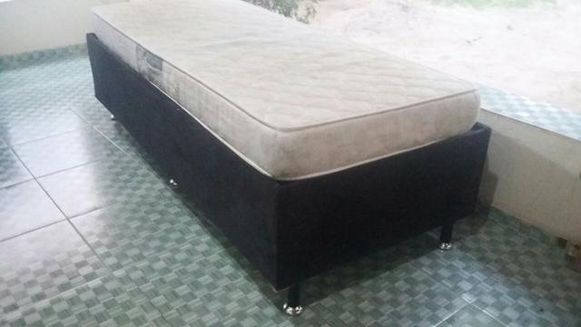 Cama box solteiro com colchão D23