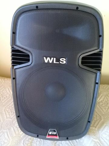 2 caixas wls 15 ativa usb mesa soundcraft 1202 fx usb