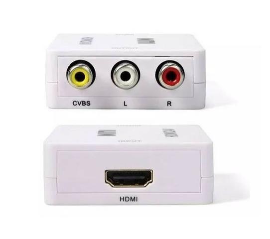 Mini Adaptador Conversor De Hdmi Para Video 3rca Av - Foto 3