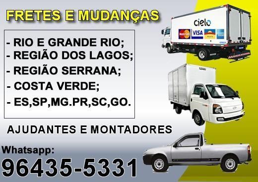 Mudanças Tijuca, Centro, Zona Sul e Barra / Ajudante e Montador / 3x no cartão