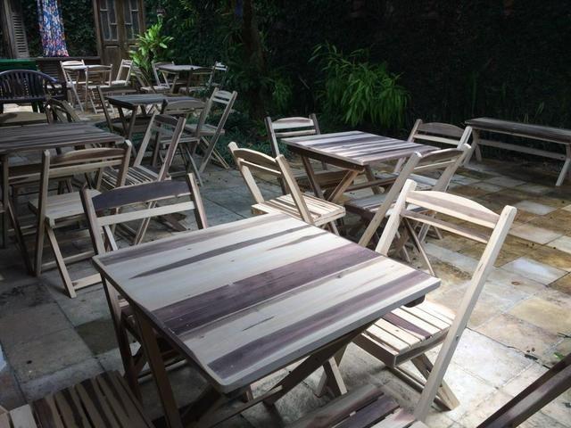 Mesas e cadeiras dobráveis para seu estabelecimento - Foto 4