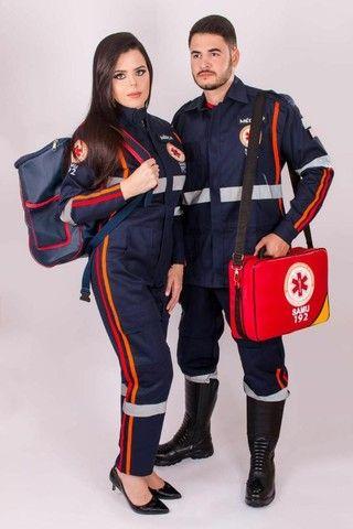 Fardamento Samu Médico , Enfermeiro , Socorrista - Foto 2