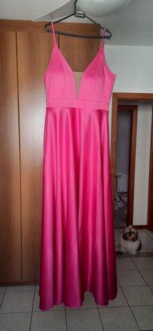 Vestido de festa Pink - usado apenas uma vez, novíssimo! - Foto 2