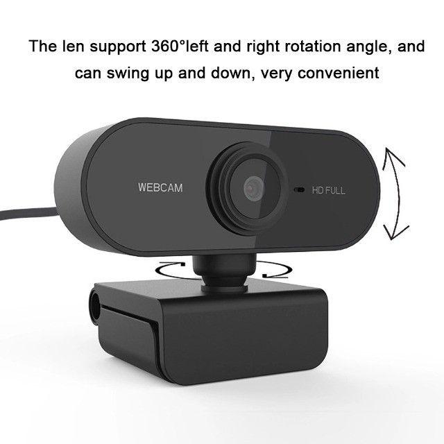 Full HD 1080 Webcam Microfone USB Mini Câmera De Visão 360º - Foto 2