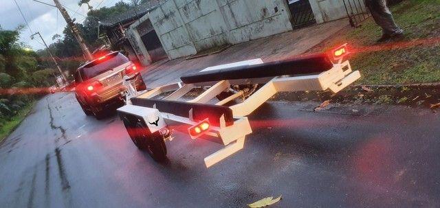 Carretinha Reboque Transporte de lancha e Barcos da Bravolli  - Foto 3