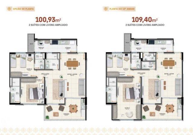 Apartamento à venda, RAVELLO RESIDENCE no Jardim Europa Aracaju SE - Foto 3
